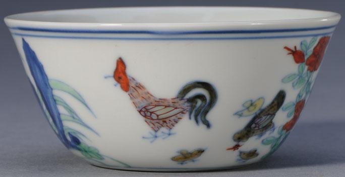 成化款斗彩鸡缸杯-故00145644
