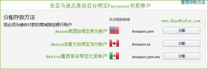 Payoneer绑定Amazon北美站