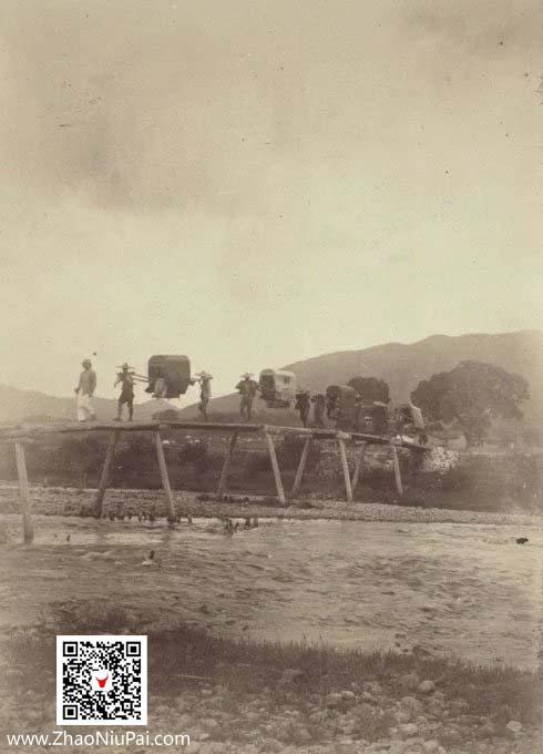 连平通往上坪的高脚桥(拍摄于1910到1912年,可能是外