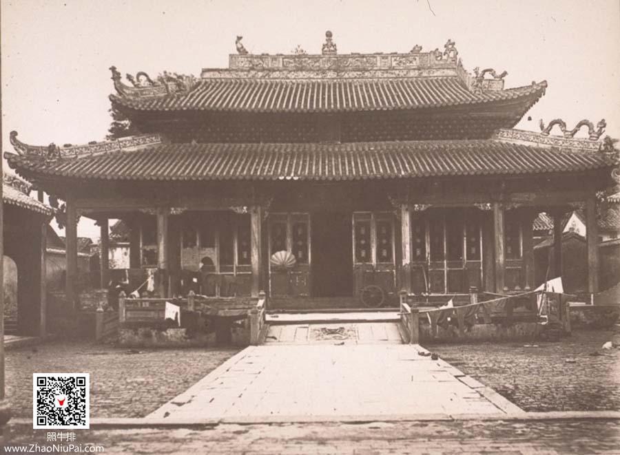 军队占领下的连平学宫(孔庙)正殿