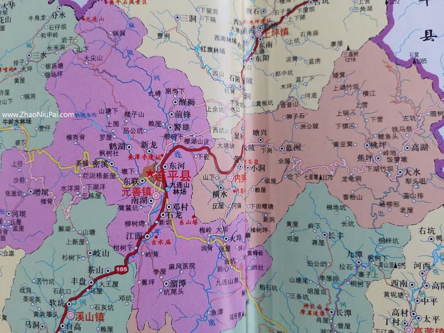惠化图:大埠,内管,麻陂