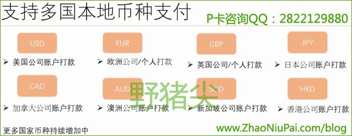 Payoneer外贸e户通支持多国本地币种支付