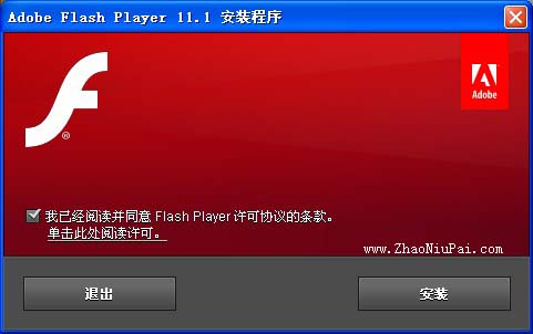 安装Adobe Flash Player ActiveX 11.1.102.5