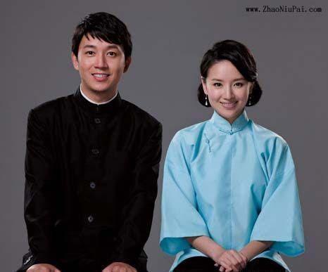 董洁和潘粤明的结婚照