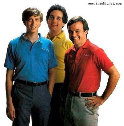 左起:盖茨、米奇·凯普和弗雷德·吉本斯 - 1984年合影