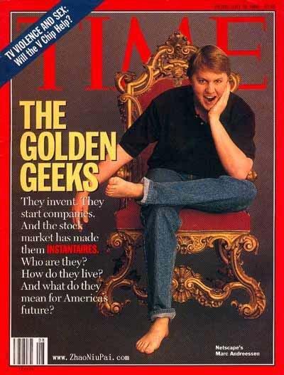 Netscape的马克·安德森,1996年登上时代杂志封面