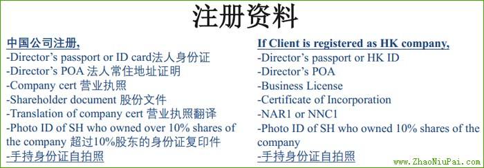 注册WorldAccount所需的资料